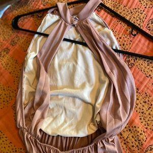 ASOS Petite Dresses - ASOS Petite halter pleated maxi dress open back